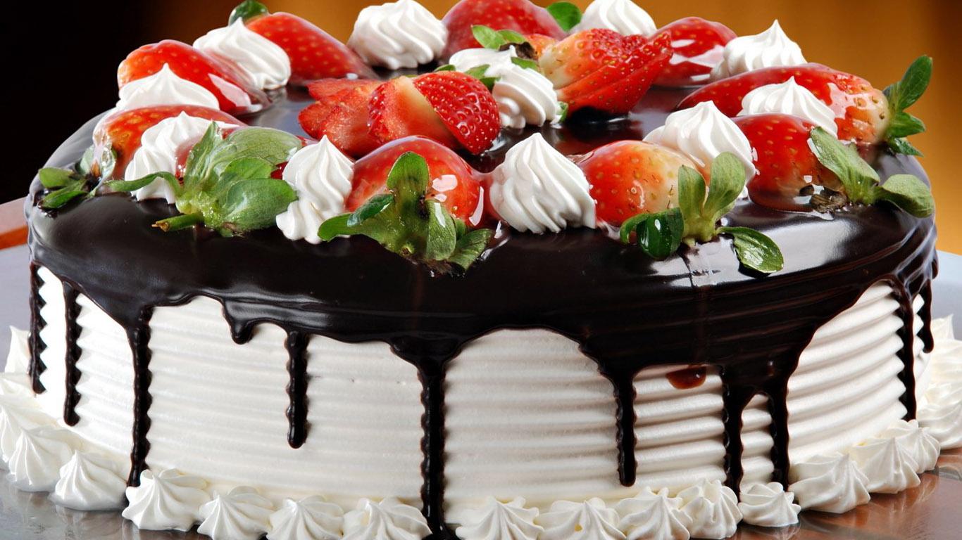 Happy Birthday Wishes Chocolate Cake Decorations Hd