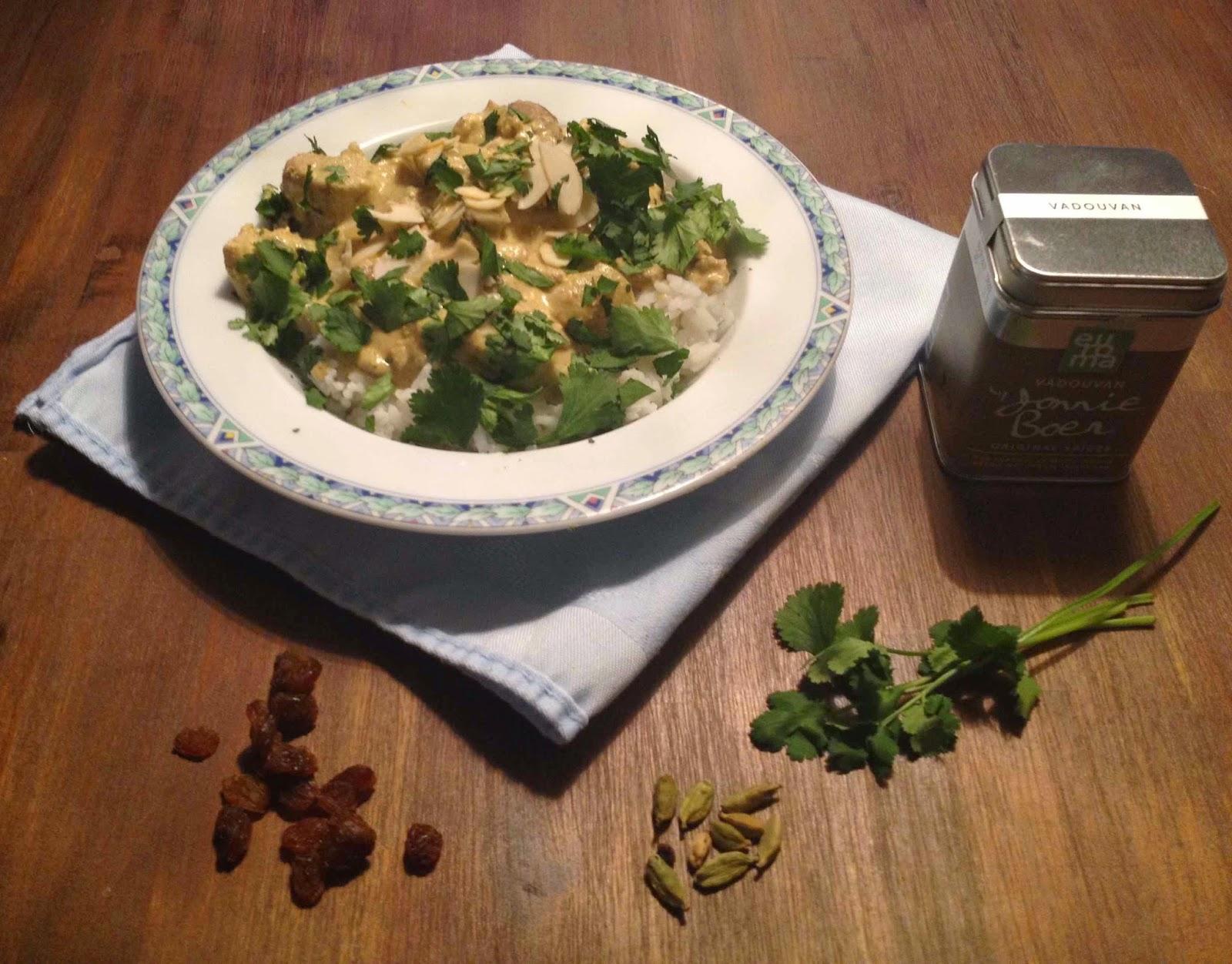Vadouvan curry met kip