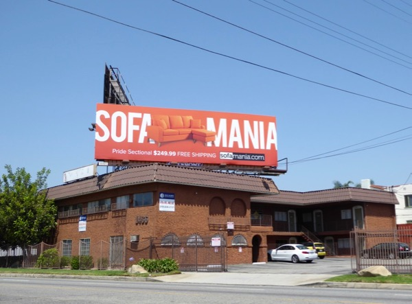 Orange Sofamania billboard