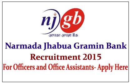Narmada Jhabua Gramin Bank Recruitment 2015