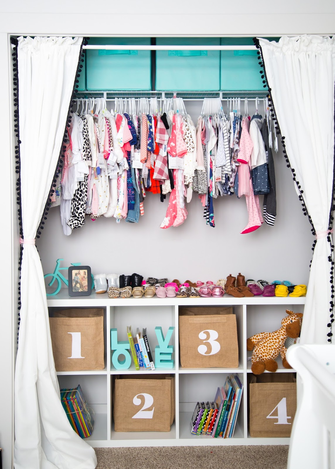 Baby Girl Closet, Nursery Closet Ideas, Girl Nursery Closet
