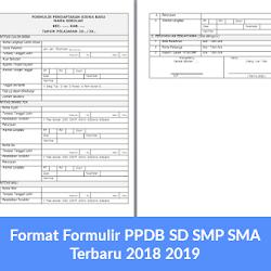 Contoh Formulir Pendaftaran Siswa Baru Sma 2018 2019 Guru Bidang