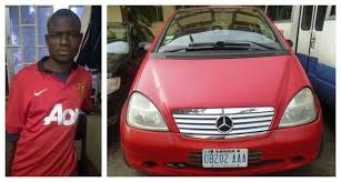 Man caught while stealing car at night club in Lagos [PHOTOS]