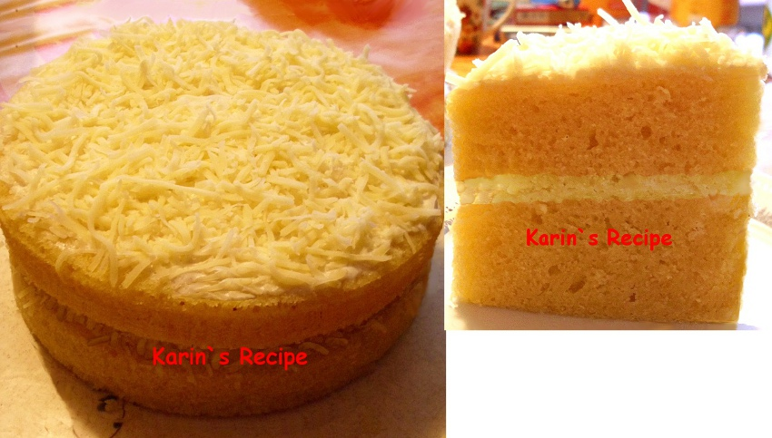 Resep Cake Kukus Durian: Karin's Recipe: Cake Keju Kukus (Steamed Layer Cheese