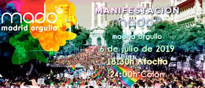 Horario y recorrido de la manifestación del Orgullo Gay de Madrid 2019