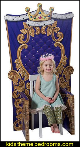 princess chair party prop Child Size Medieval Kingdom Throne