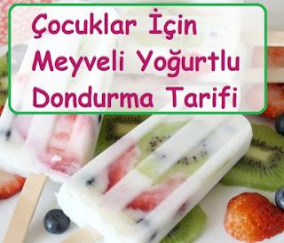 Çocuklar İçin Meyveli Yoğurtlu Dondurma Tarifi