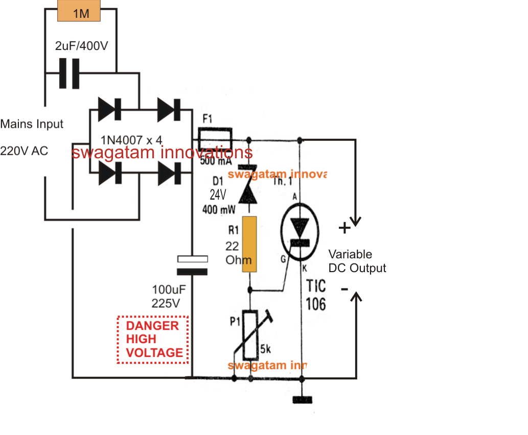 High Current Dc Power Supply Schematic High Voltage