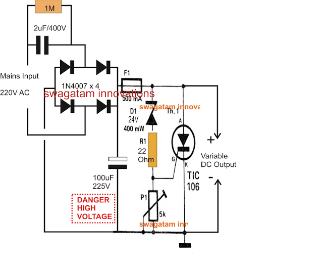 Schematic Diagram Ac Welding To Dc Output AC To DC