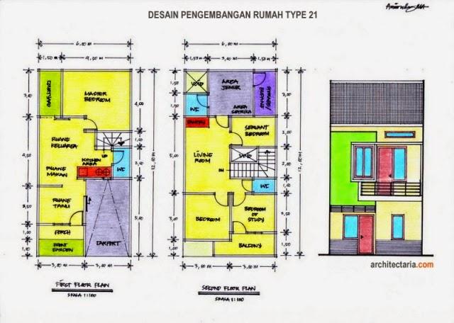 NEW DENAH RUMAH MINIMALIS 2 LANTAI UKURAN 7X12