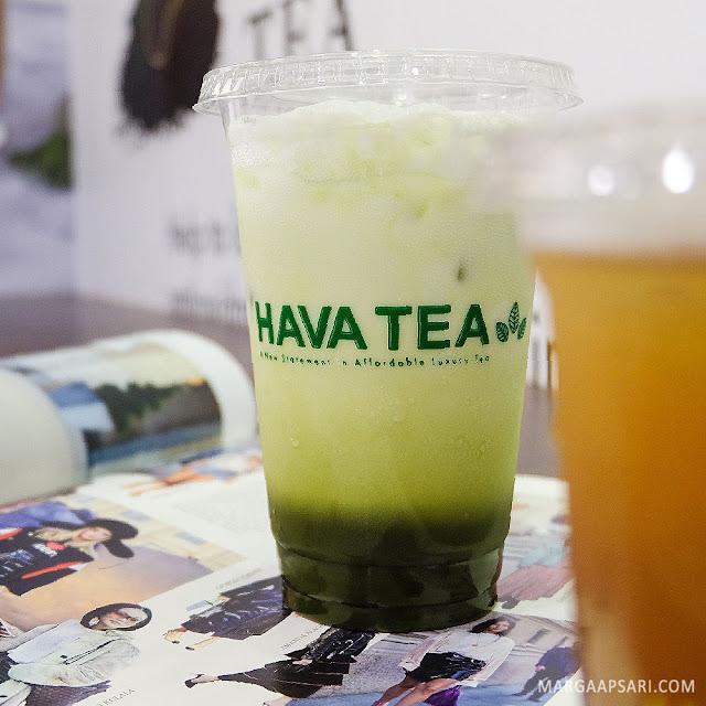 Iced Matcha Latte Hava Tea