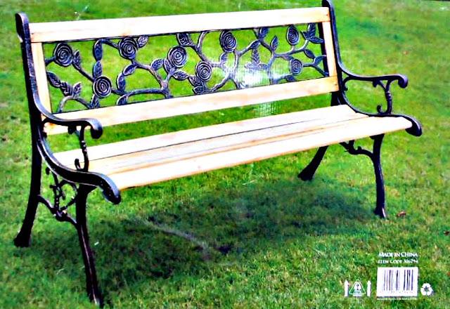 Roses garden bench