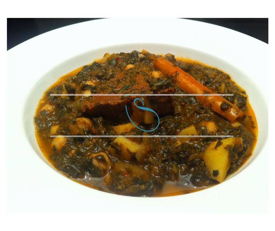 Healthy Tunisian green chard, spinach and parsley stew | Ragoût Tunisien au persil, épinards et blettes | Mar9et Khodhra