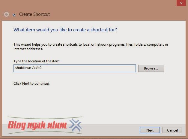 Tutorial Membuat Tombol Shutdown di Windows 8