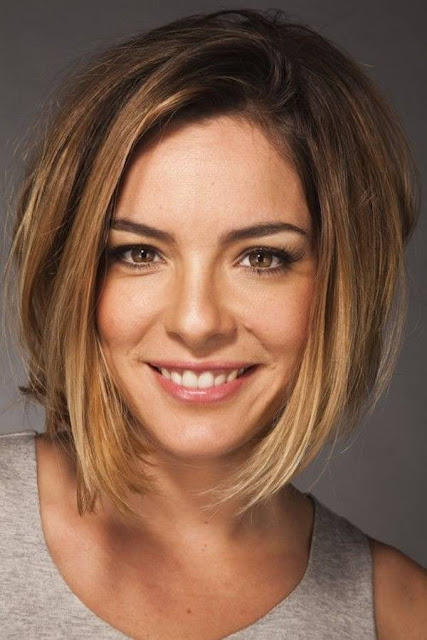 Short Haircuts For Thick Hair And Oval Face With Long Layers Bob