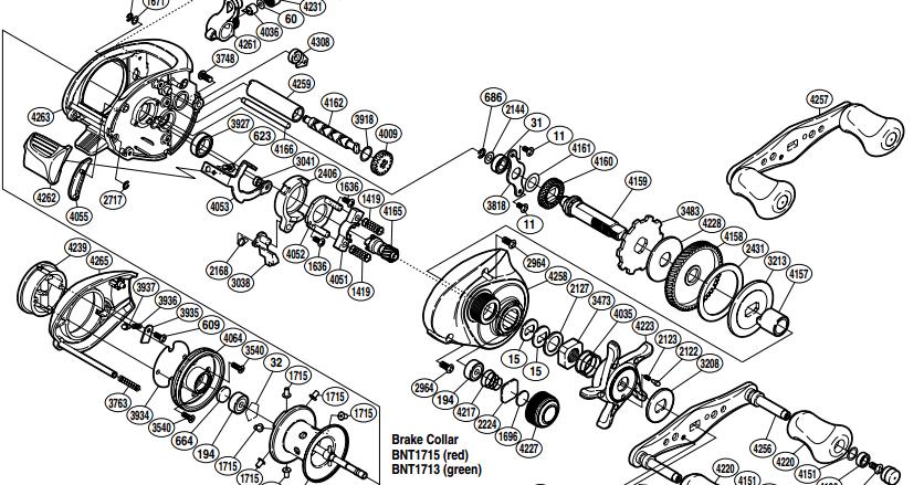 Shimano Chronarch 200 E 50e Schematics