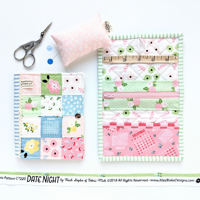 Stationery Kit Tutorial from Fabric Mutt and Jet Set Kit from Sew Organized for the Busy Girl in Date Night Fabric by Heidi Staples for Riley Blake Designs
