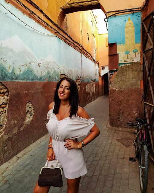 Marrakech. Alessia Siena nella Medina