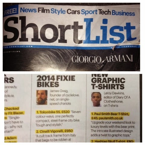 featured and contributed in the Shortlist Magazine