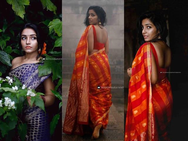 Rajisha Vijayan Hot Photoshoot In Saree