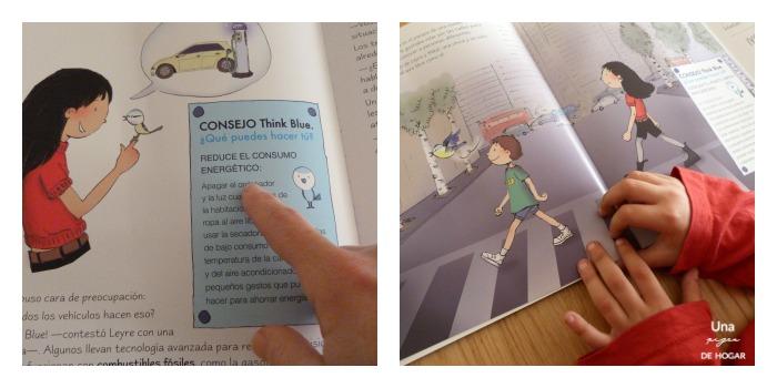 Niños leyendo  ell planeta azul con actividades