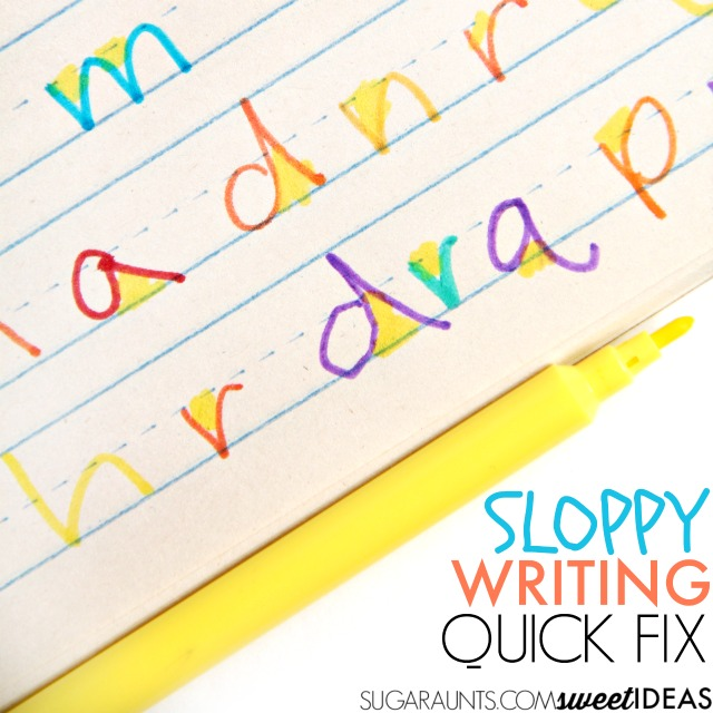 Try this trick for neater letter formation and handwriting