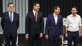 Mariano Rajoy, Pedro Sánchez, Pablo Iglesias, Albert Rivera, España, eleciones, gobierno
