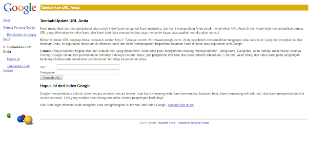 Add URL Blog ke Google