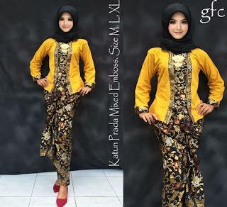 desain baju batik setelan rok panjang