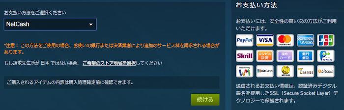 Netcash Steam