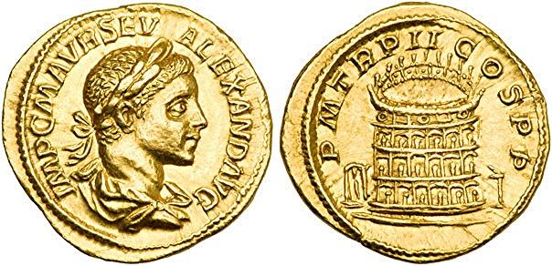 áureo de Alejandro Severo- Coliseo