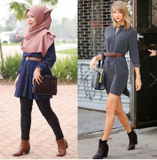 6 Inspirasi Model Busana Muslim Dari Penyanyi Taylor Swift