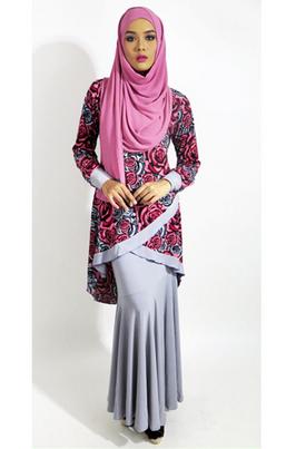 baju batik muslim berhijab