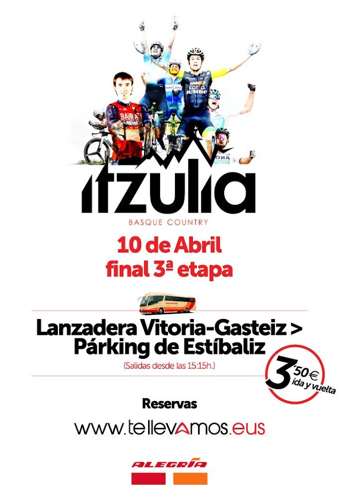Podrás ir al final de la 3ª etapa de la Vuelta al País Vasco en bus