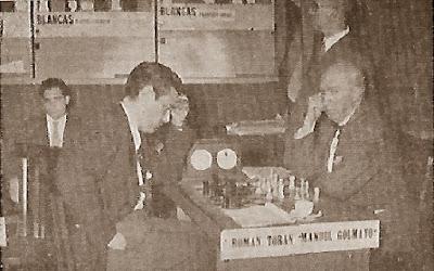 XXI Campeonato de España de Ajedrez 1956, partida Golmayo-Torán en el