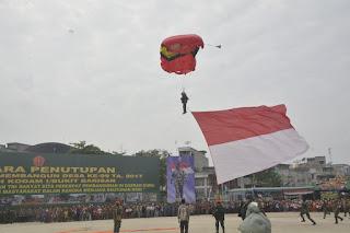 Atraksi Terjun Payun, Tandai Berakhirnya TMMD Ke-99 Di Tanjung Balai