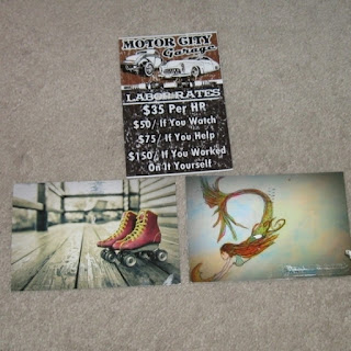 Amy, Kim, and Ruthann postcards