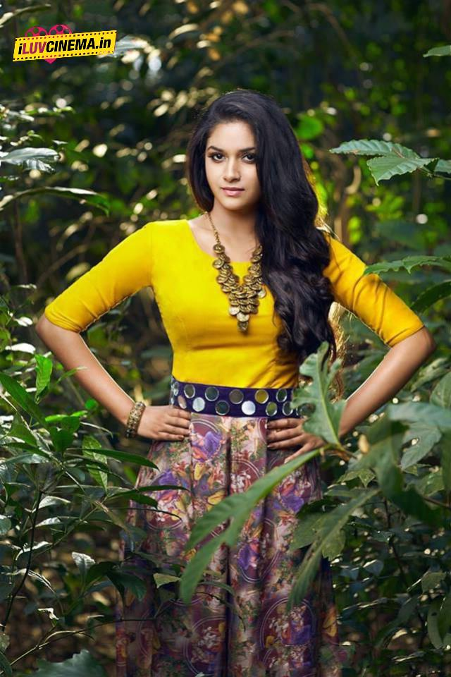 Actress Keerthi Suresh Latest Hot Photos, Saree Still And -8222