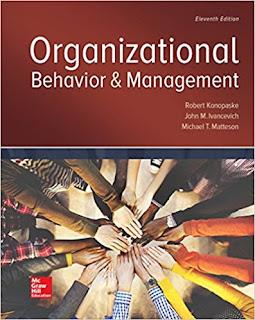 Organizational Behavior and Management Edition 11e Konopaske Test Bank 1