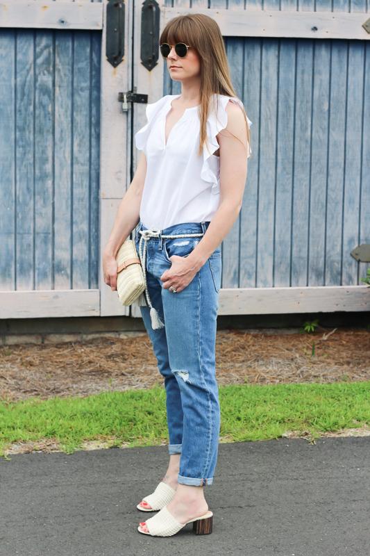 Summer white blouses