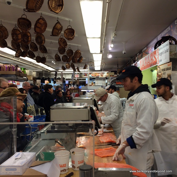 lox counter at Zabar's deli in NYC