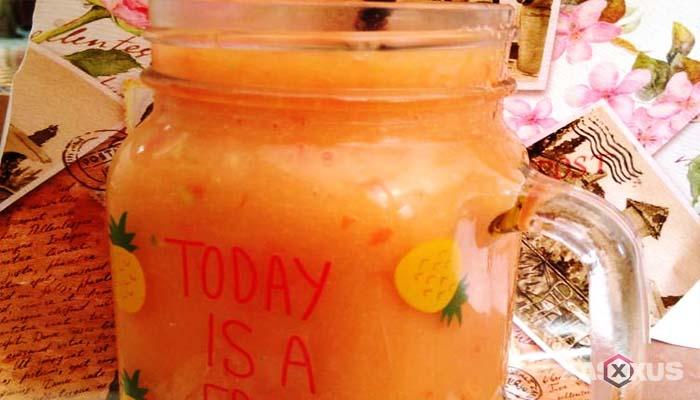 Resep cara membuat jus mangga campur tomat dan wortel