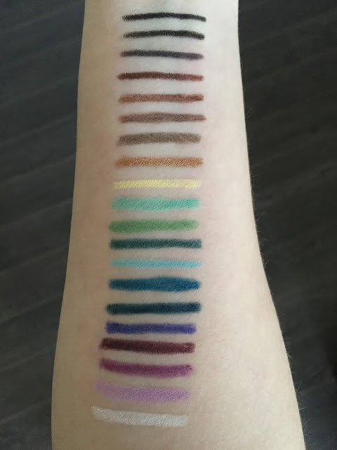 Make Up For Ever Aqua XL Eye Pencil Swatches
