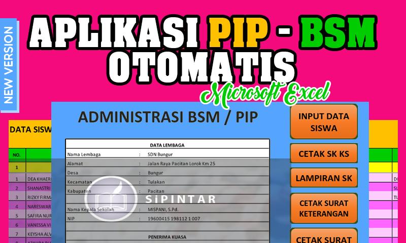 Aplikasi PIP- BSM berbasis Microsoft Excel