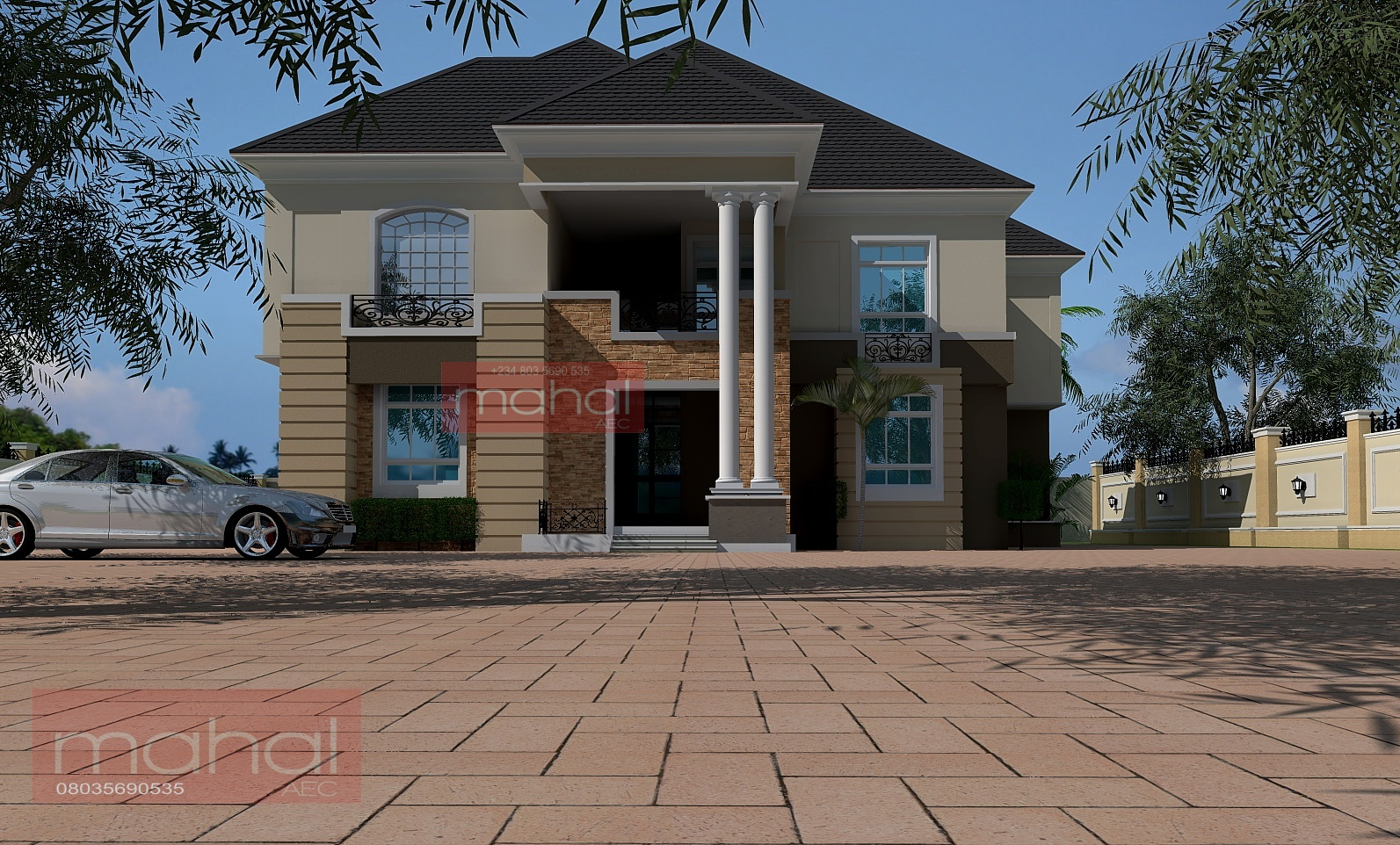 Contemporary Nigerian Residential Architecture Luxury 3: Contemporary Nigerian Residential Architecture: 6 Bedroom