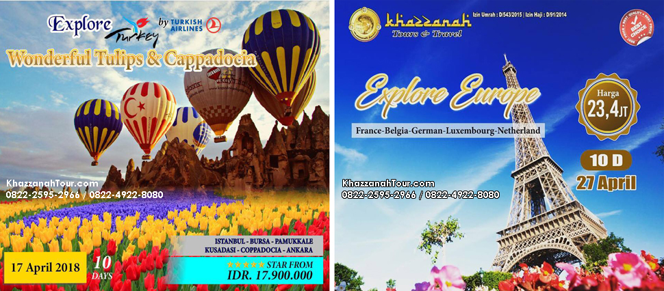 Khazzanah Tour Yuuk ke Turki Cappadocia