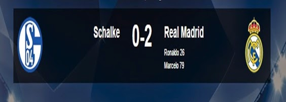 Hasil Schalke04 Vs Real Madrid Liga Champion Tadi Malam