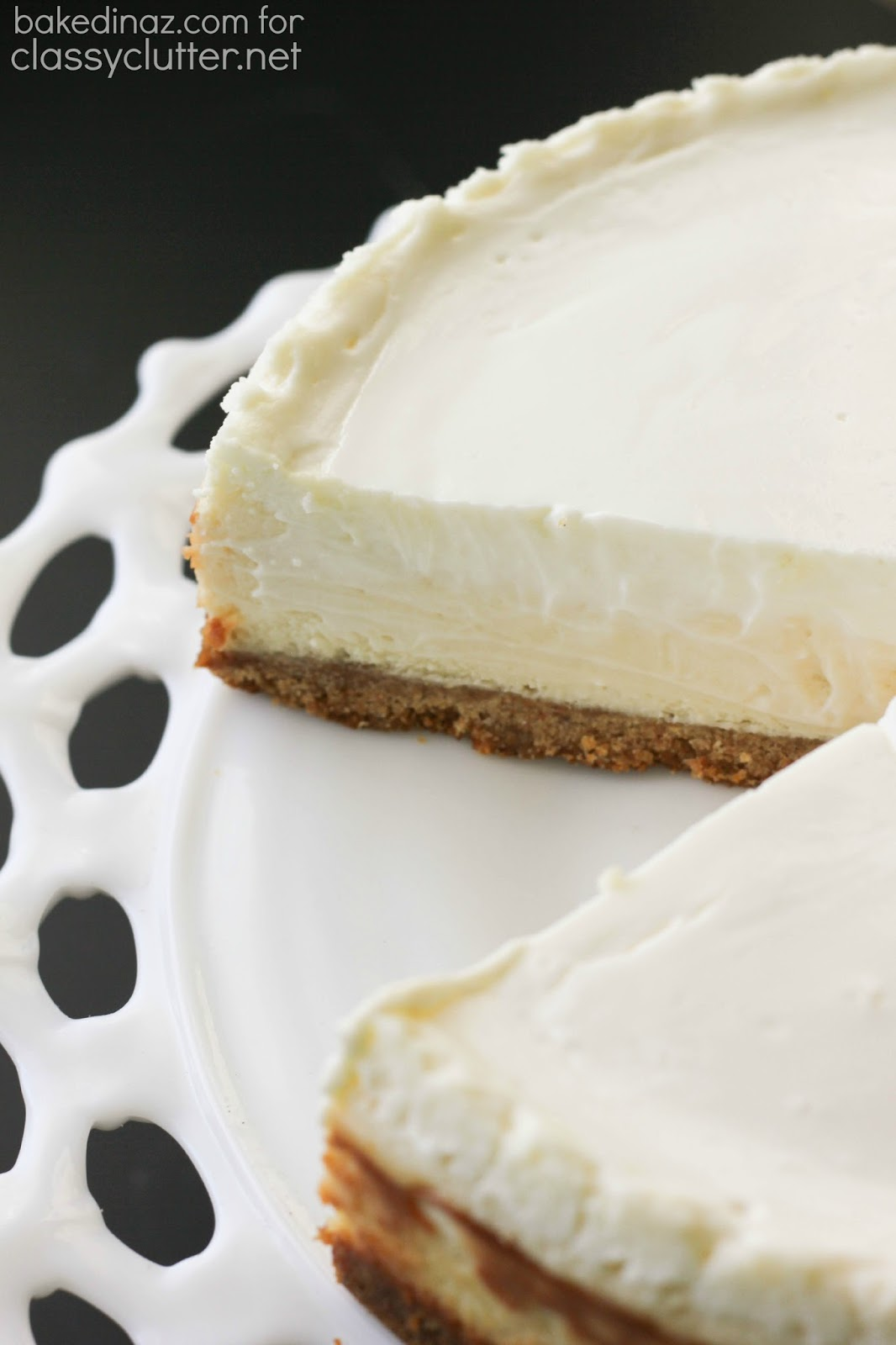 Classic Cheesecake With Sour Cream Topping Classy Clutter