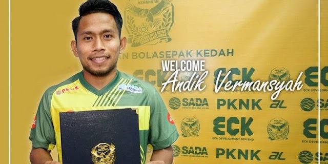 Andik Vermansah Resmi Gabung Kedah FA