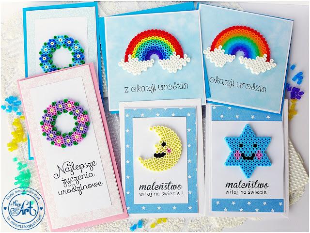 Karteczki z koralikami / Cards with beads